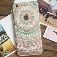 Hollow Out Lace iPhone 5se 5s 6 6s Plus Case Cover + Free Gift Box