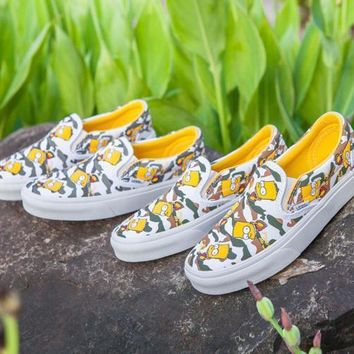 The Simpson Vans Off the Wall Supreme Camo Slip On