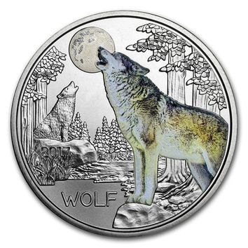 2017 Austria Cupro-Nickel 3 Euro Colorful Creatures (The Wolf)