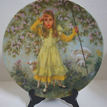 Mother Goose Collectors Plate Limited Edition Little Bo Peep 5th Issue