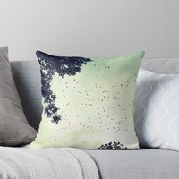 'Flock of birds at sunset' Throw Pillow by TheOtherErre