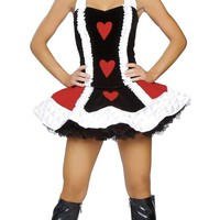 Roma Costume 4060 3pc Sexy Queen of Hearts