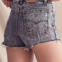 Urban Renewal Recycled Levis Exposed Zipper Denim Short - Urban Outfitters