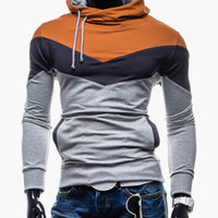 Block Drawstring Hoodie Pullover With Pocket