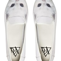 YRU Lowf Kitty White Slipper Shoes -
