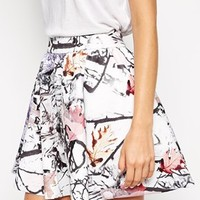 Weekday Photo Print Skirt