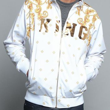 Jeweled Tiger King Zip Up Track Jacket JK5000 - V6E