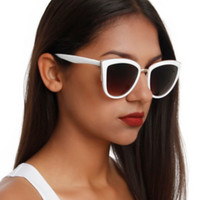White Cateye Sunglasses