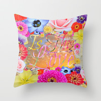 Is This Love II Throw Pillow by RichCaspian