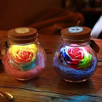 Rose Bottle Ambiance Light
