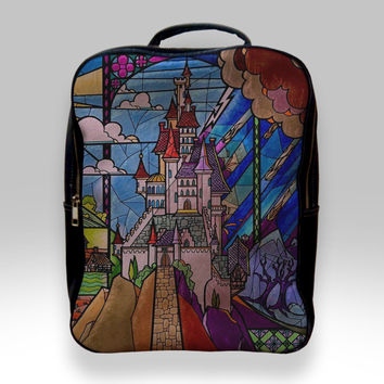 Backpack for Student - Beauty and The Beast Castle Bags