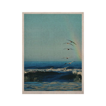 "Robin Dickinson ""I'll Follow"" Blue Coastal KESS Naturals Canvas (Frame not Included)"