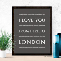 LONDON Travel Art Print | Gift Idea | HopSkipJumpPaper
