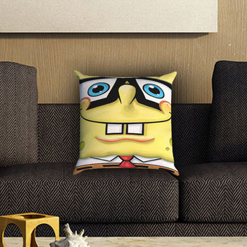 Spongebob Squarepants Pillow Cover , Custom Zippered Pillow Case One Side Two SIde