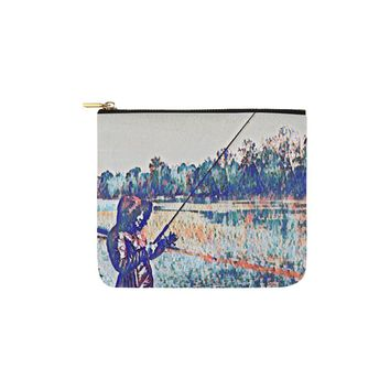 Levi Thang Fishing Design 1 Carry-All Pouch 6''x5''