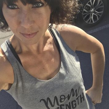 Mom Strength Racerback Tank