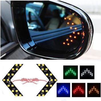 2Pcs LED Arrow Turn Signal Light 5 Colors Car Styling Car LED Side Mirror LED Guide Light Turn Signal Arrows Light