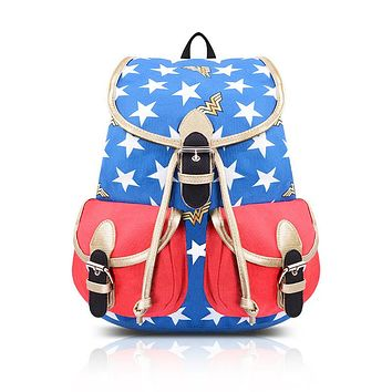 Wonder Woman Stars Backpack
