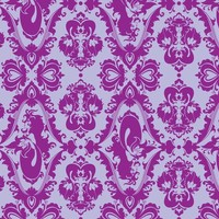 Mermaid Damask (Purple) - rosalarian - Spoonflower