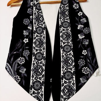Double-Sided Black And White  - Special Weaving Fabric - Summer Clothes - Double Sided - White BlackDesigned - Anatolian Patterns