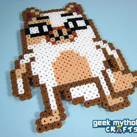 Adventure Time Cake the Cat Custom Design Perler Bead Sprite Decoration