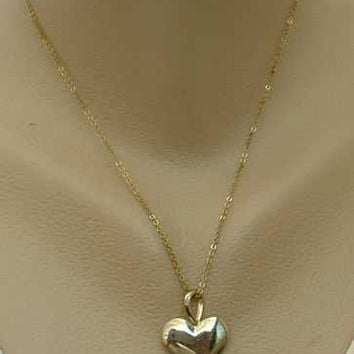Heart Slider Pendant Necklace Comp Earrings Vintage Sweetheart Jewelry