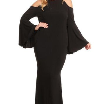 Plus Size Long Maxi Dress with Sleeves