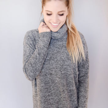 Hannah Knit Sweater Charcoal