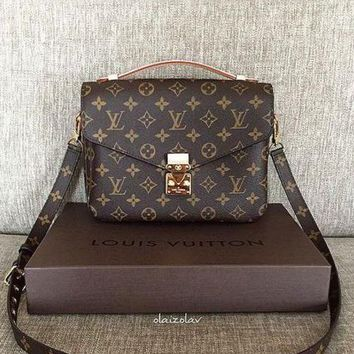 LV Women Shopping Leather Crossbody Satchel Shoulder Bag G