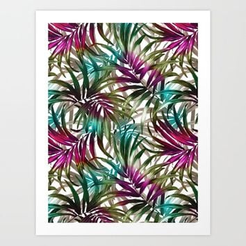 Tropical Leaf Pattern Art Print by burcukorkmazyurek