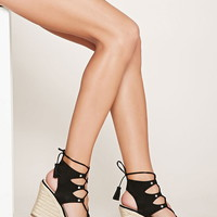 Faux Suede Wedge Sandals | Forever 21 - 2000177836