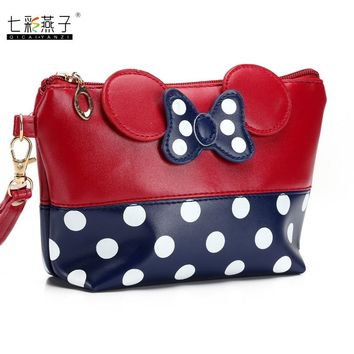 Minnie Leather Cosmetic Bag