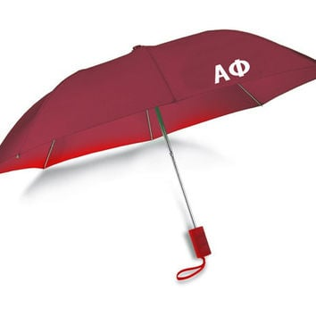 Alpha Phi // Auto Open Folding Sorority Umbrella with Matching Case