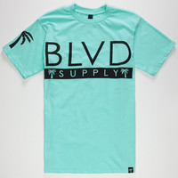 Blvd Frontside Mens T-Shirt Seafoam  In Sizes