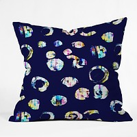 CayenaBlanca Drops of color Throw Pillow
