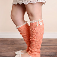 Vintage Lace Trim 2 Button Boot Socks - All Colors!