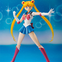 BANDAI S.H. Figuarts SAILOR MOON Pretty Guardian action figure with BONUS PARTS