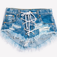 Rodeo Lace Up Acid Babe Shorts