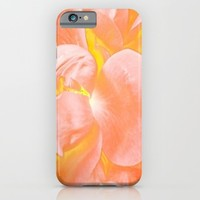 The Light Inside Flower Abstract in Peachy Pink iPhone & iPod Case by Jen Warmuth Art And Design