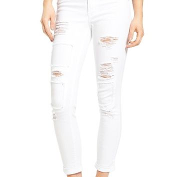 1822 Denim Rip & Repair Patch Skinny Jeans | Nordstrom