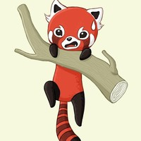 """Red Panda"" - Art Print by Indré Bankauskaité"