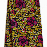 Wax print African fabric per YARD African fashion Nigerian style Ghanaian fashion  African print fabric pink brown
