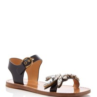 MARC JACOBS Rivington Crystal-Emebellished Flat Sandals | Bloomingdales's
