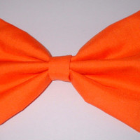 Solid Orange Handmade Hair Bow Hair Accessory Hair Clip