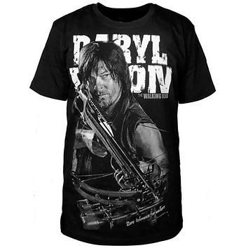 The walking dead print T-shirt men short sleeve good quality casual girl top tee Harajuku Brand Clothing