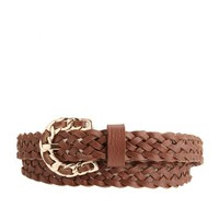 FAUX LEATHER BRAIDED BELT
