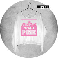 On Wednesdays We Wear Pink Mean Girls Long Sleeve Pocket Shirt
