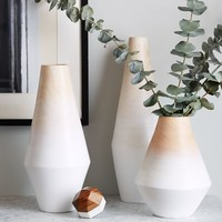 Modern Wood Ombre Vases