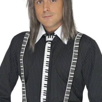 Piano Keyboard Tie and Suspenders