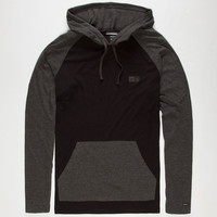 Rvca Graham Mens Lightweight Hoodie Black  In Sizes